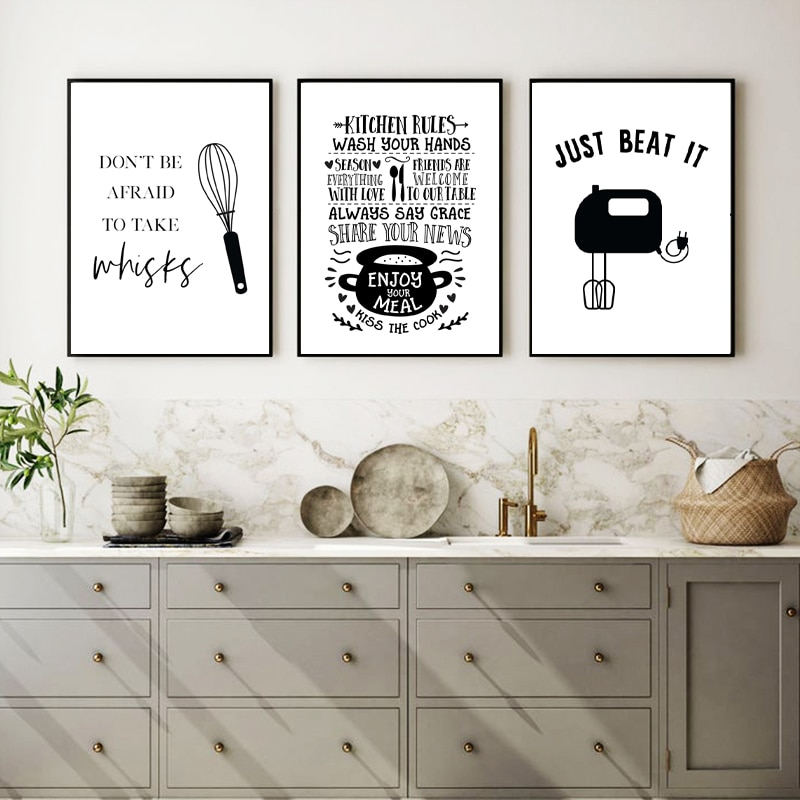 Kitchen Quote Canvas Print Wall Decoration