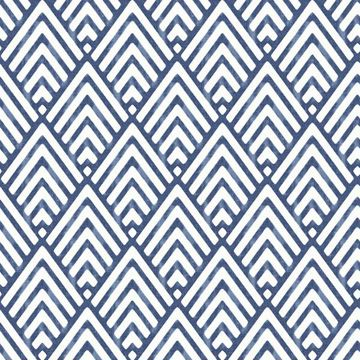 Picture of Arrowhead Deep Blue Peel And Stick Wallpaper