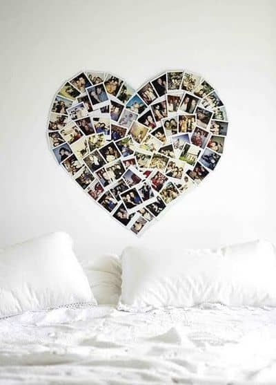 heart photo collage Photo Wall Collage Without Frames: 17 Layout Ideas