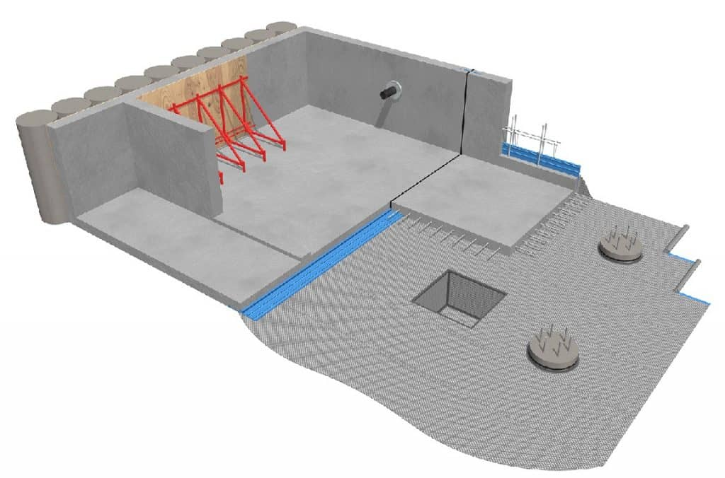waterproofing-placing waterstops at joints in construction-fosroc