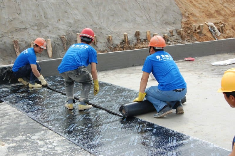 waterproofing using membrane sheets