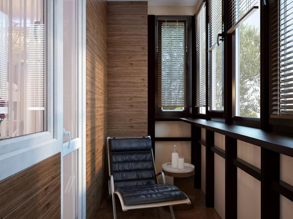 Отделка утепленного балкона деревянной вагонкой