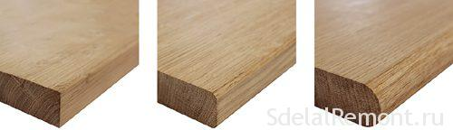 Sills made of oak