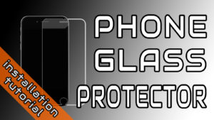 Phone Glass Protector Installation Guide Artwork