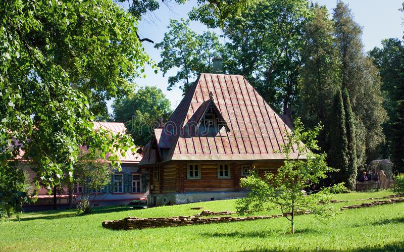 Bath-house in Russian style. State Historical, Artistic and Literary Museum-. Abramtsevo, Moscow region, Russia - June 12, 2018: Bath-house in Russian style royalty free stock photos