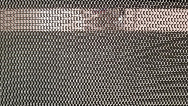 Abstract industrial metallic netting background, pattern, texture. Mesh gray background.  stock image