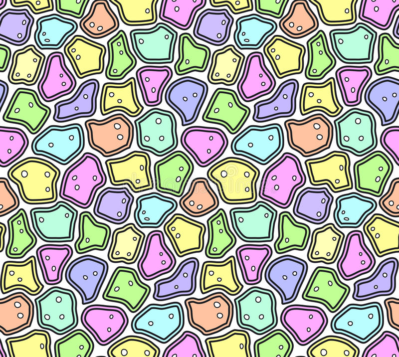 Abstract Seamless Pattern in Soft Pastel Colors vector illustration