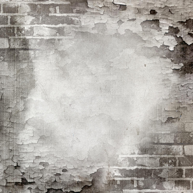 Abstract wall of brick and cracked paint. Abstract wall of gray brick and cracked paint. Page to design photo books vector illustration