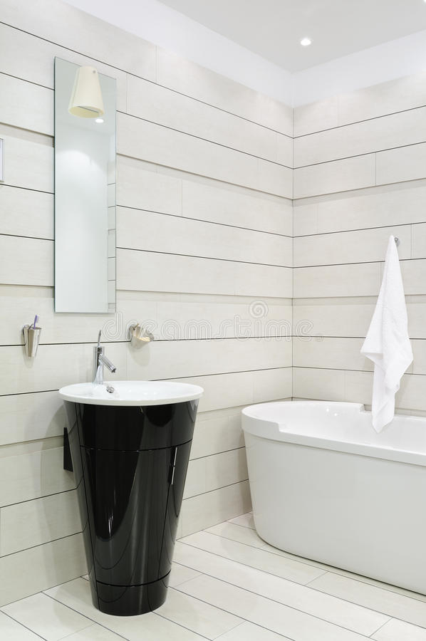 Bathroom interior. Interior of modern toilet room royalty free stock image