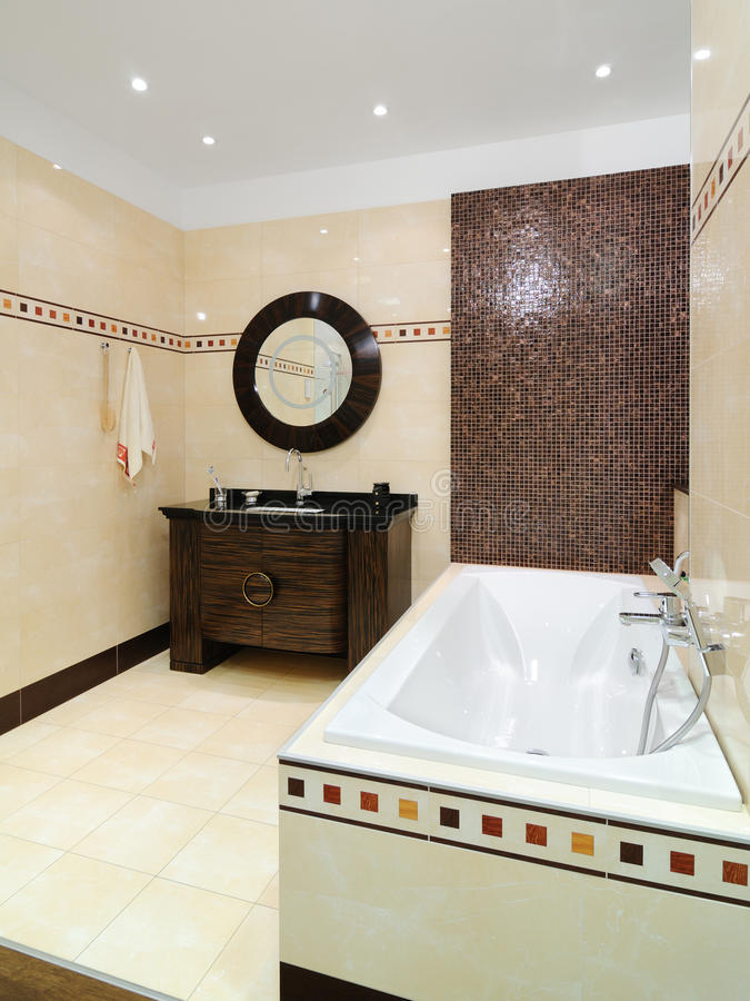 Bathroom interior. Interior of modern toilet room royalty free stock images