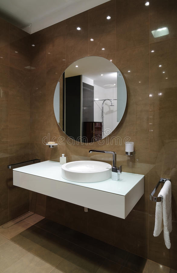 Bathroom interior. Interior of modern toilet room stock images