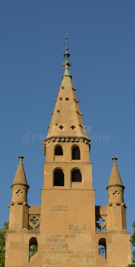Church Steeple Symmetrical View royalty free stock photos
