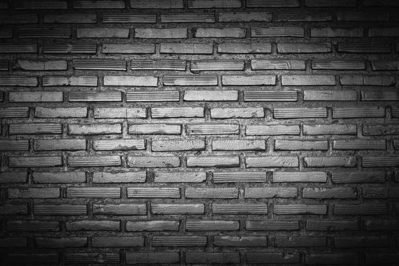 Black brick wall background, Iron style, gloomy color. stock images