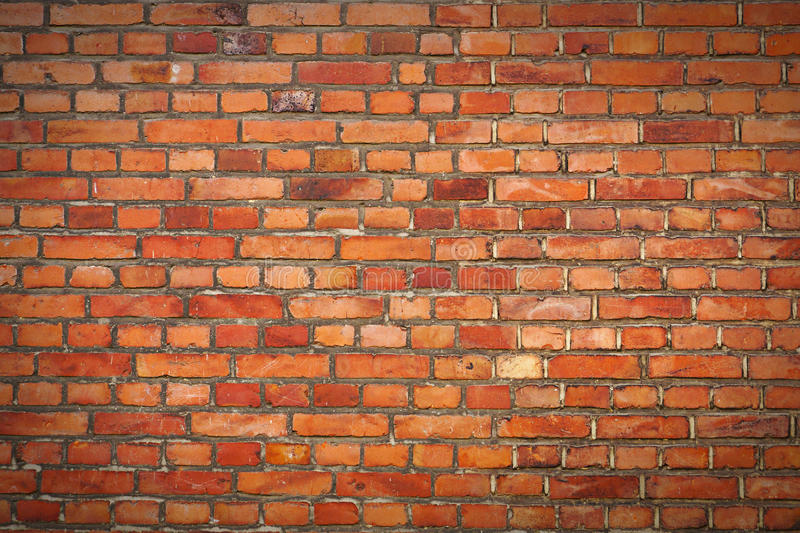 Brick Wall with Vignette royalty free stock image