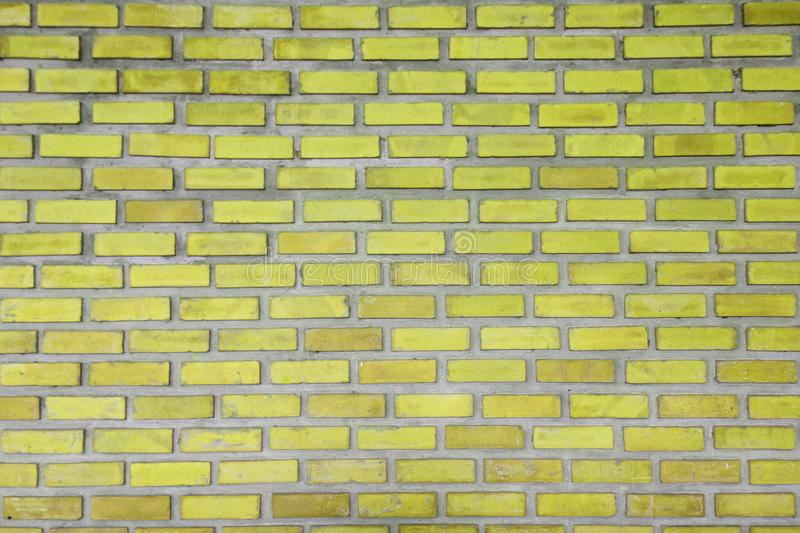Brick wall of yellow color texture background. Vintage wall design texture, background, Abstract Web Banner. Brick wall of yellow color texture background royalty free stock photos
