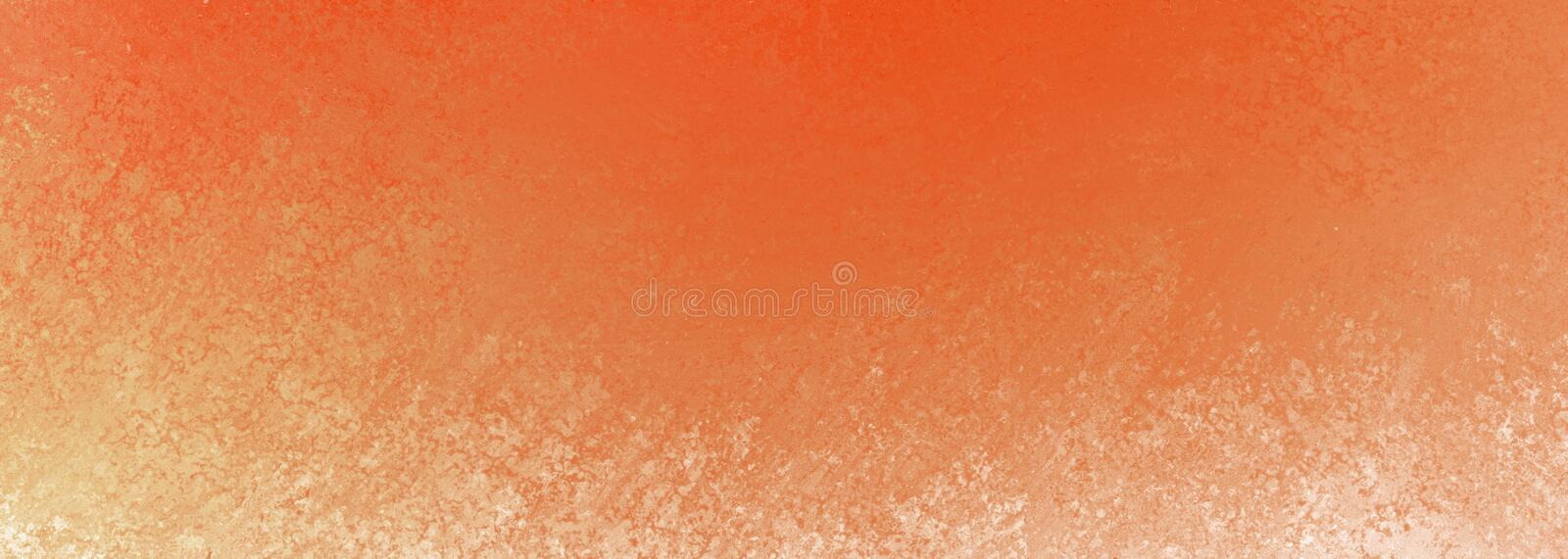 Burnt orange background with white grunge border design and texture, rustic warm color scheme vector illustration