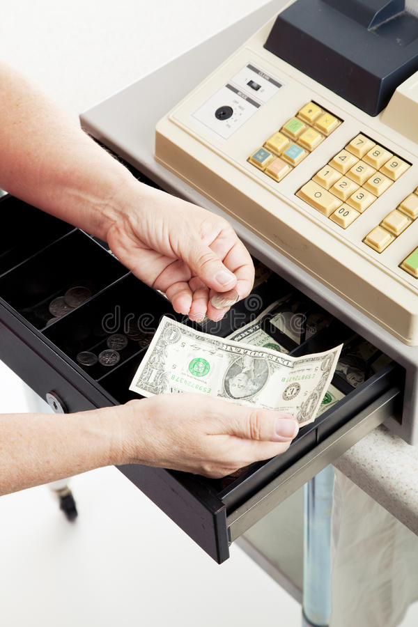 Cash Register - Small Change royalty free stock photo