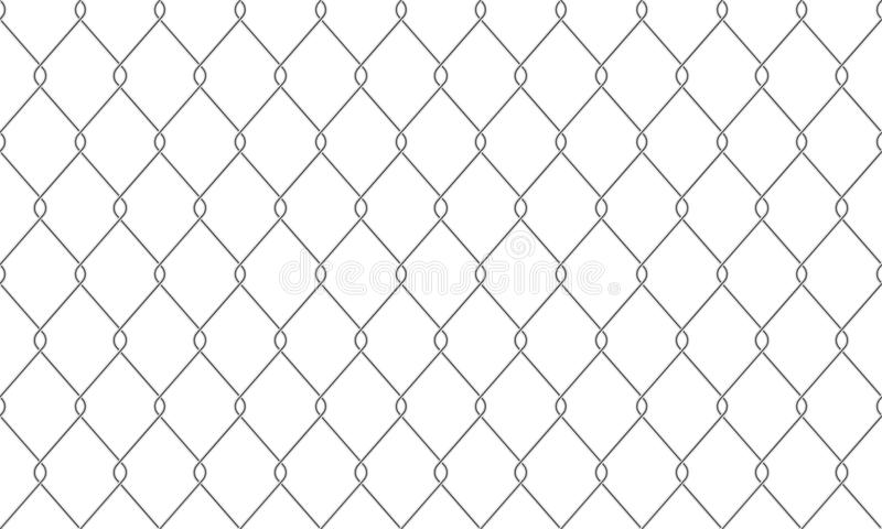 Chain link fence wire netting pattern background. Chain-link fence seamless pattern background. Vector realistic metal or wire mesh netting or chain link fence vector illustration