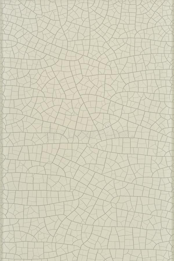 Cracked gray paint on tile. Stylish texture with repeating lines randomly stock illustration