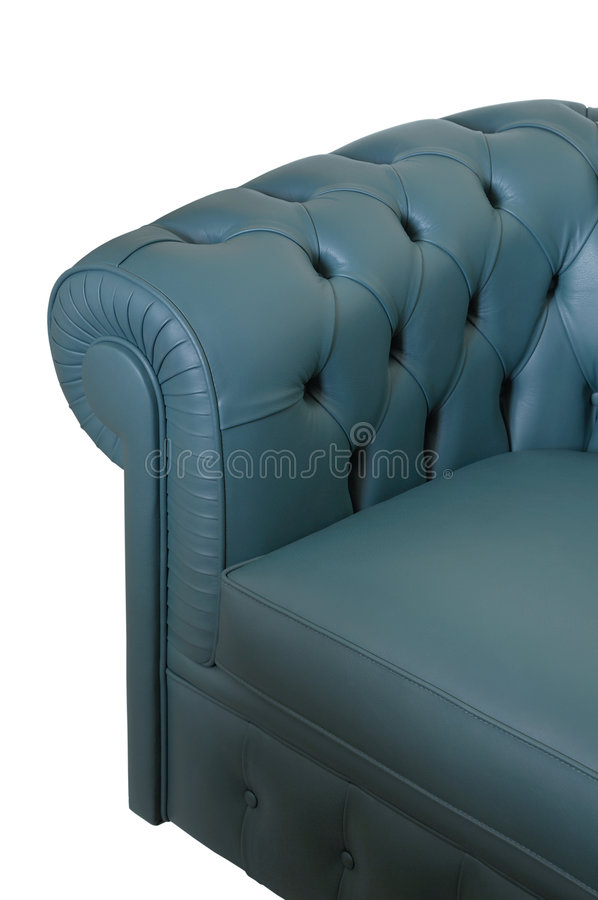 Dark blue leather sofa royalty free stock images