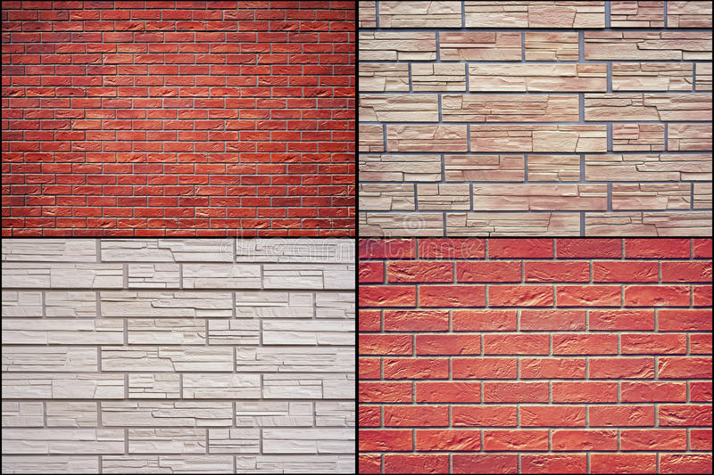 Decorative stone artificial covering in the form of bricks. royalty free stock images