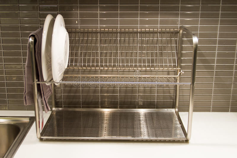 Dish shelf royalty free stock image