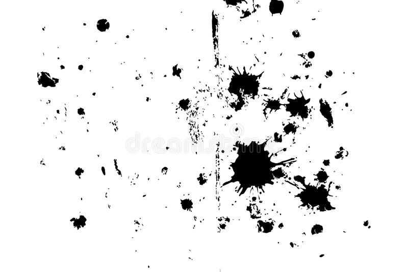 Distressed halftone grunge black and white vector texture - dirty splashes of paint and plaster on the old floor vector illustration