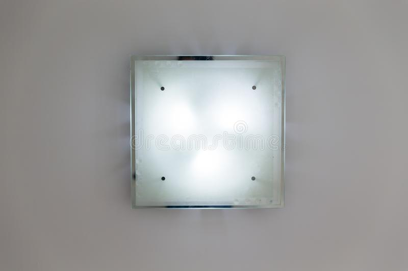 Downlight or Ceiling light bottom view stock images