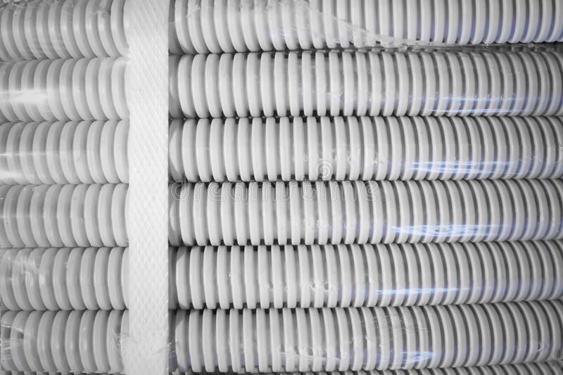 Electric grey corrugation twisted into a Bay and tightened with a screed royalty free stock image