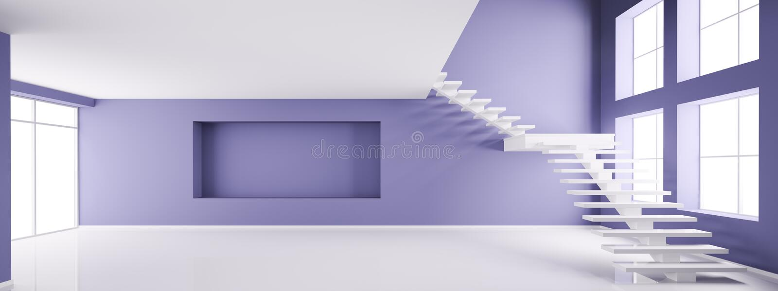 Empty interior 3d render royalty free illustration