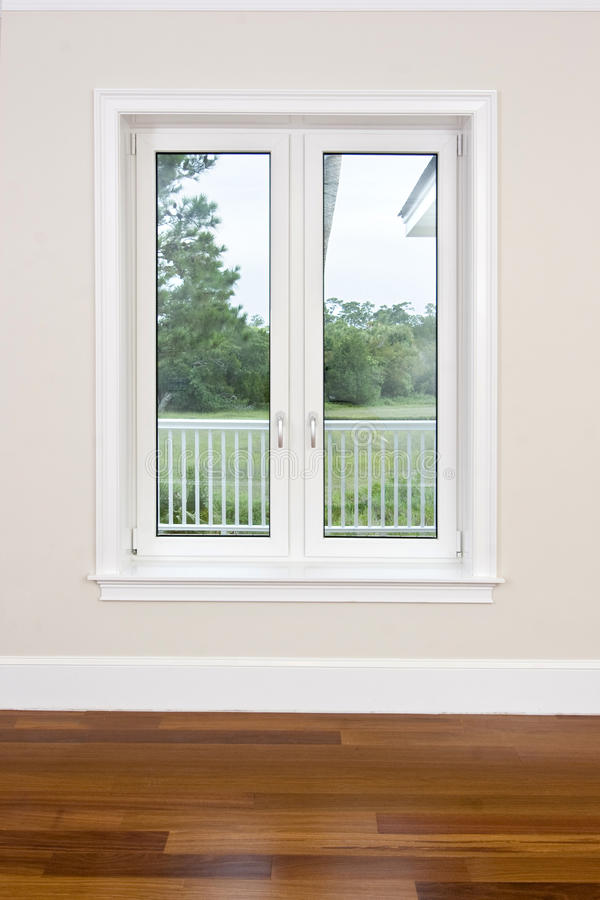 Empty room with view windows royalty free stock image