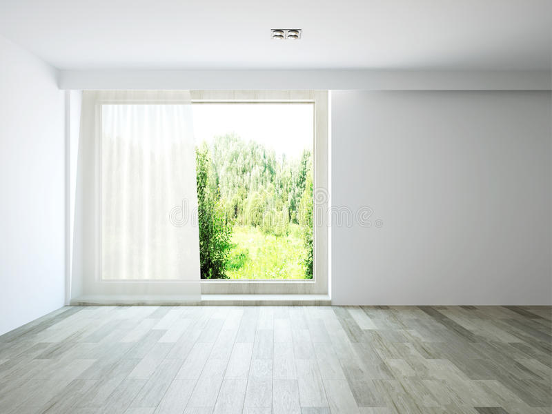 Empty room vector illustration