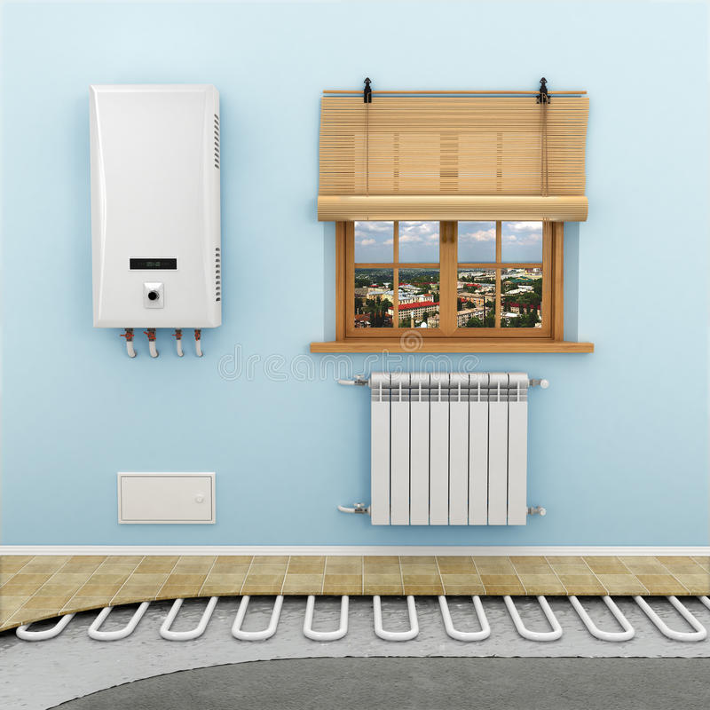 Floor heating systems stock images