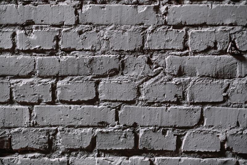 Gray brick wall texture background in a loft style. stock images