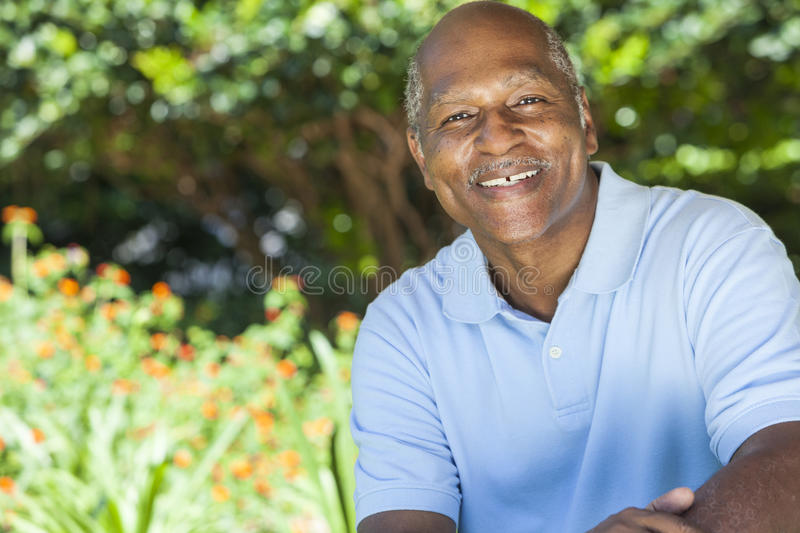 Happy Senior African American Man stock photography