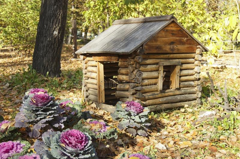 The hut on chicken legs, the dwelling of Baba-Yaga in Russian fairy tales.  stock image