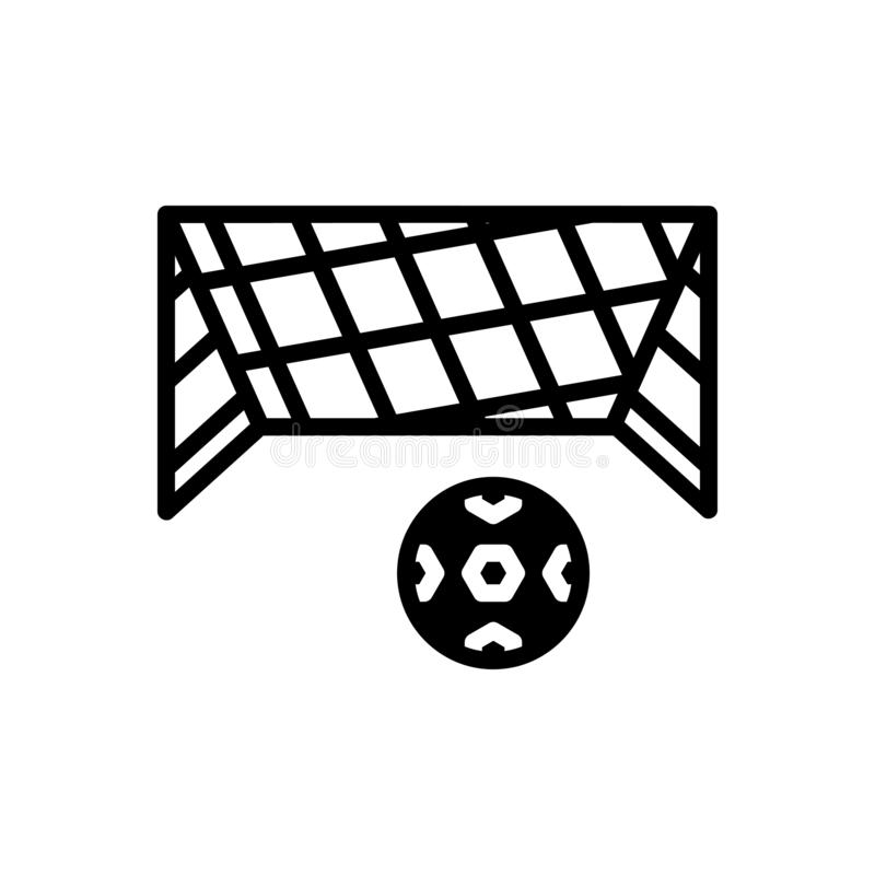 Black solid icon for Net, mesh and snare. Black solid icon for Net, toils, netting, ball, soccer,  mesh and snare vector illustration