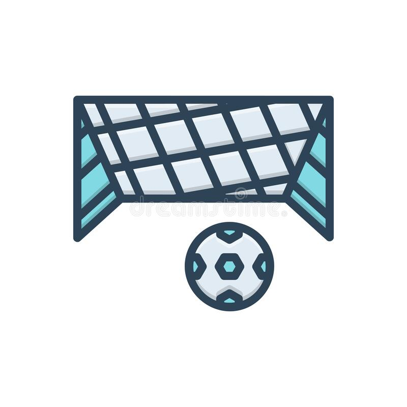 Color illustration icon for Net, mesh and snare. Color illustration icon for Net, toils, netting, ball, soccer,  mesh and snare vector illustration