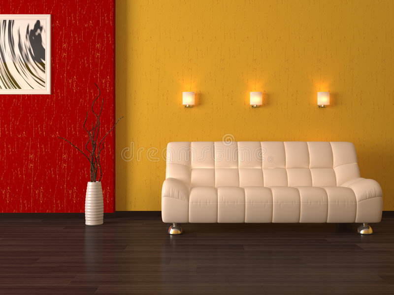 Interior 3d cumputer render vector illustration