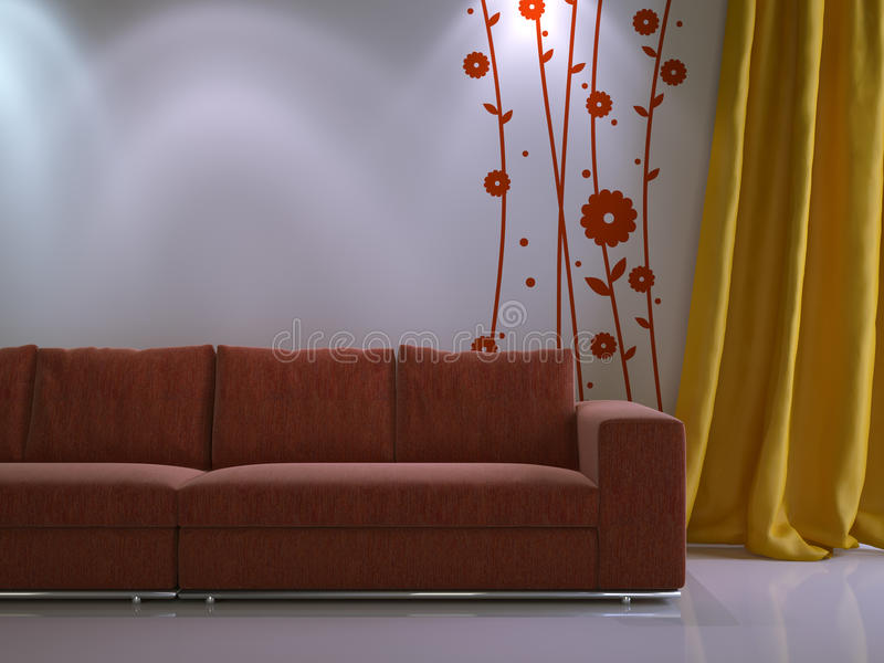 Interior composition stock illustration