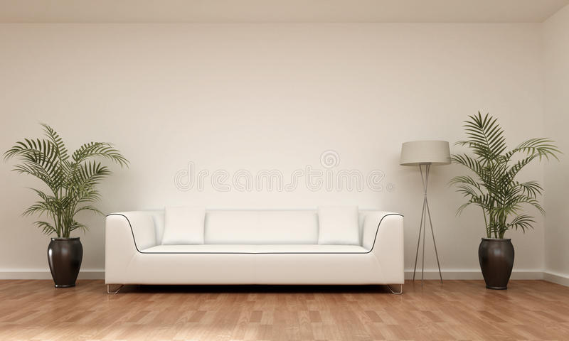 Interior scene sofa royalty free illustration