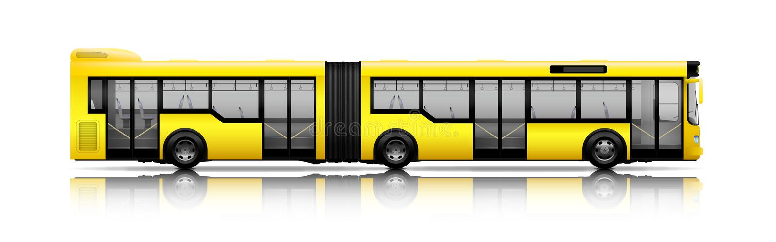 Long city bus royalty free illustration
