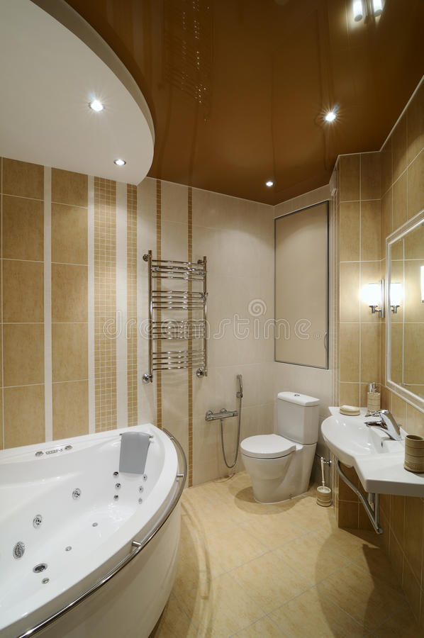 Modern interior.Bathroom. Interior of modern toilet room royalty free stock photos