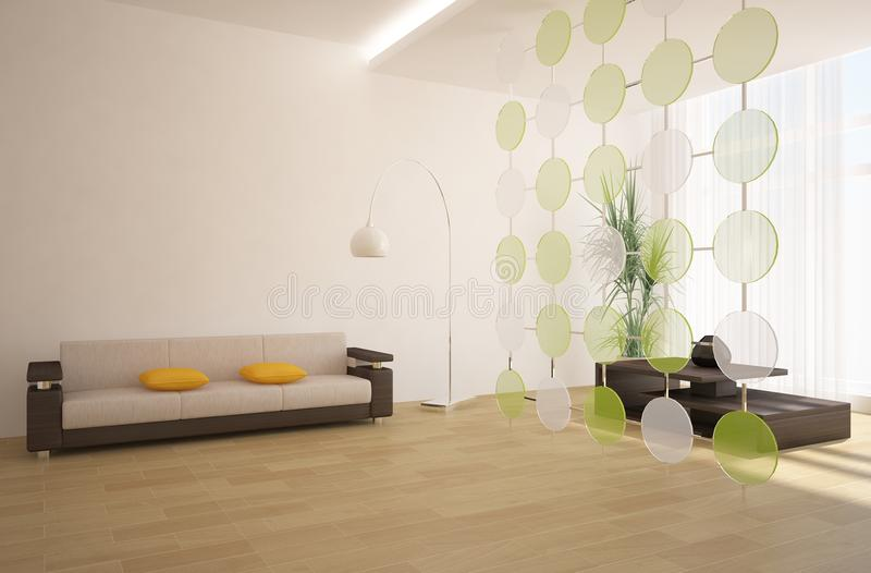 Modern interior composition stock illustration