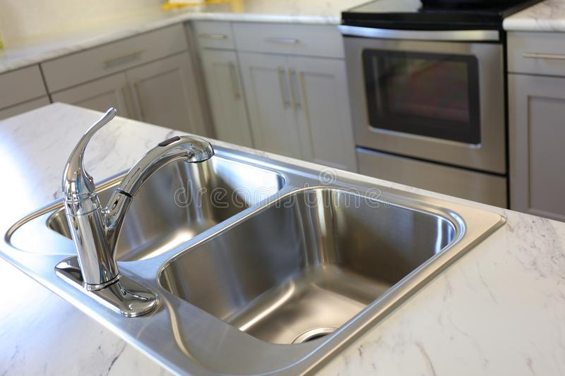 Modern Kitchen Sink stock photography