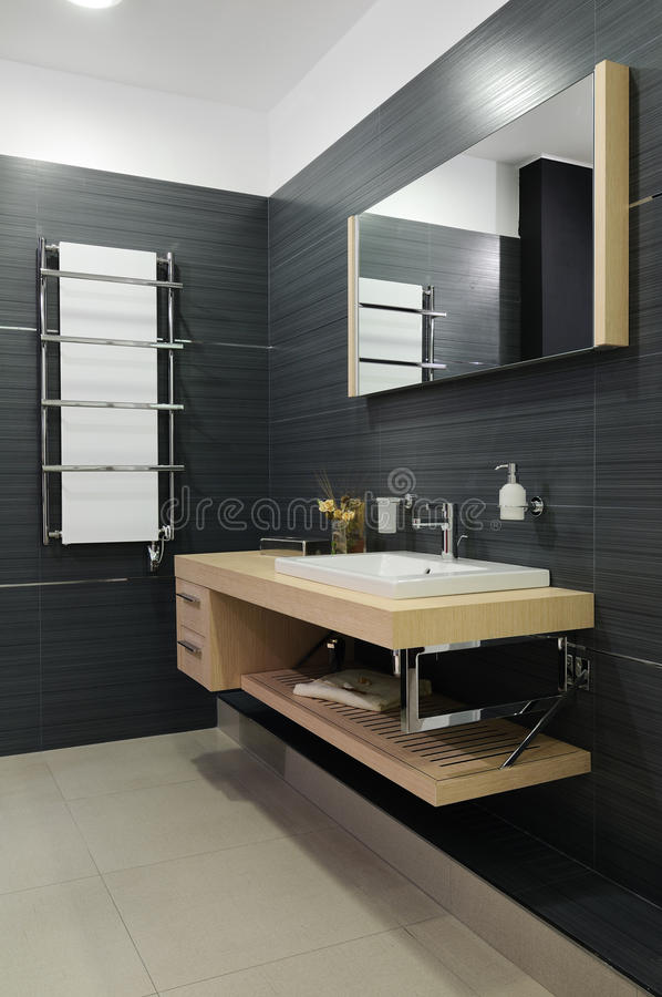 Modern restroom. Interior of modern toilet room royalty free stock images