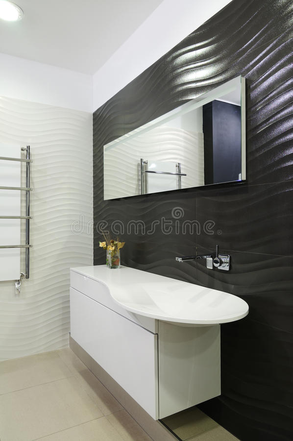 Modern restroom. Interior of modern toilet room royalty free stock photography