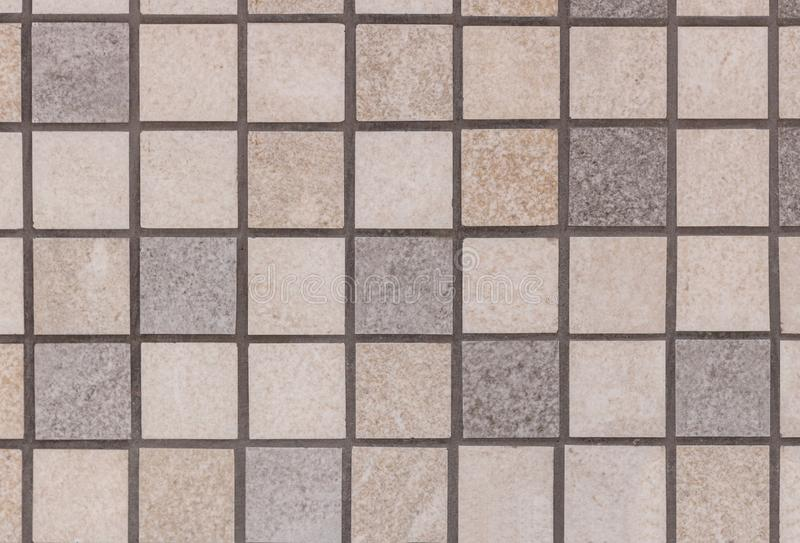 Mosaic tiles decorative stone texture for wall decoration, modern finishing materials.  royalty free stock photos