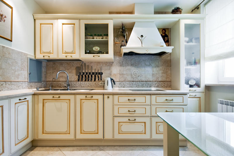 New kitchen interior royalty free stock image