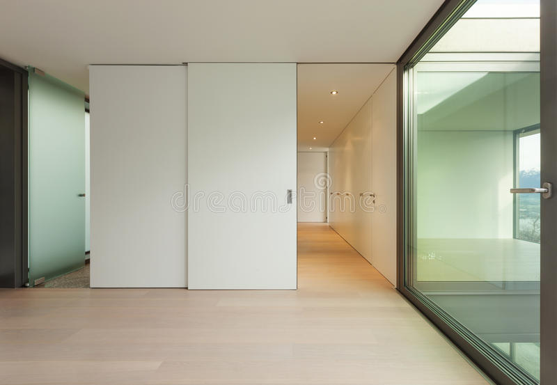 Nice apartment, wide empty room royalty free stock images